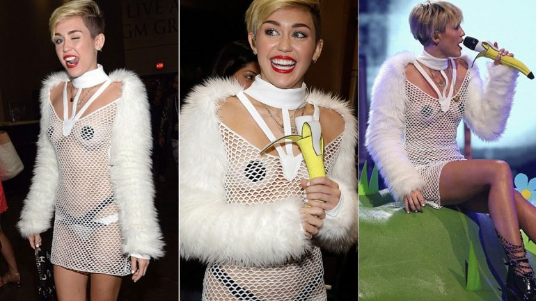 El provocativo look de Miley Cyrus